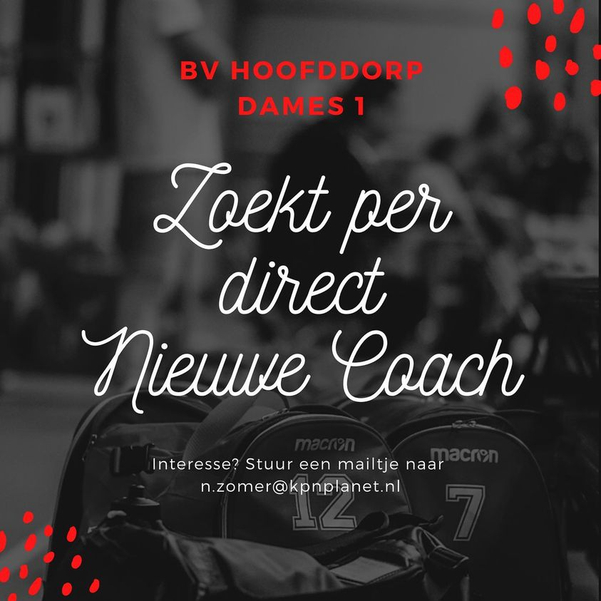 Dames 1 zoekt nieuwe coach