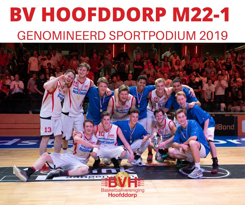 Team Moermanboys M22-1 seizoen 2018-2019 is genomineerd voor Sportpodium 2019