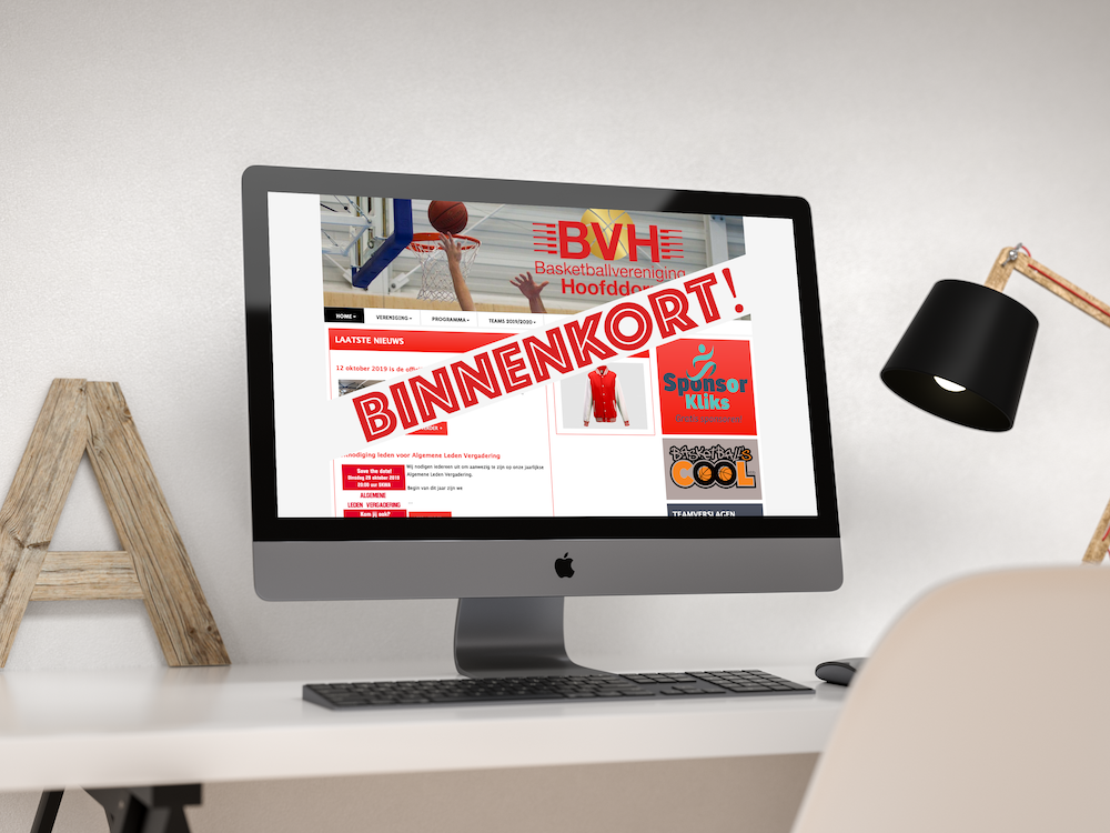 De nieuwe BVH website is bijna klaar