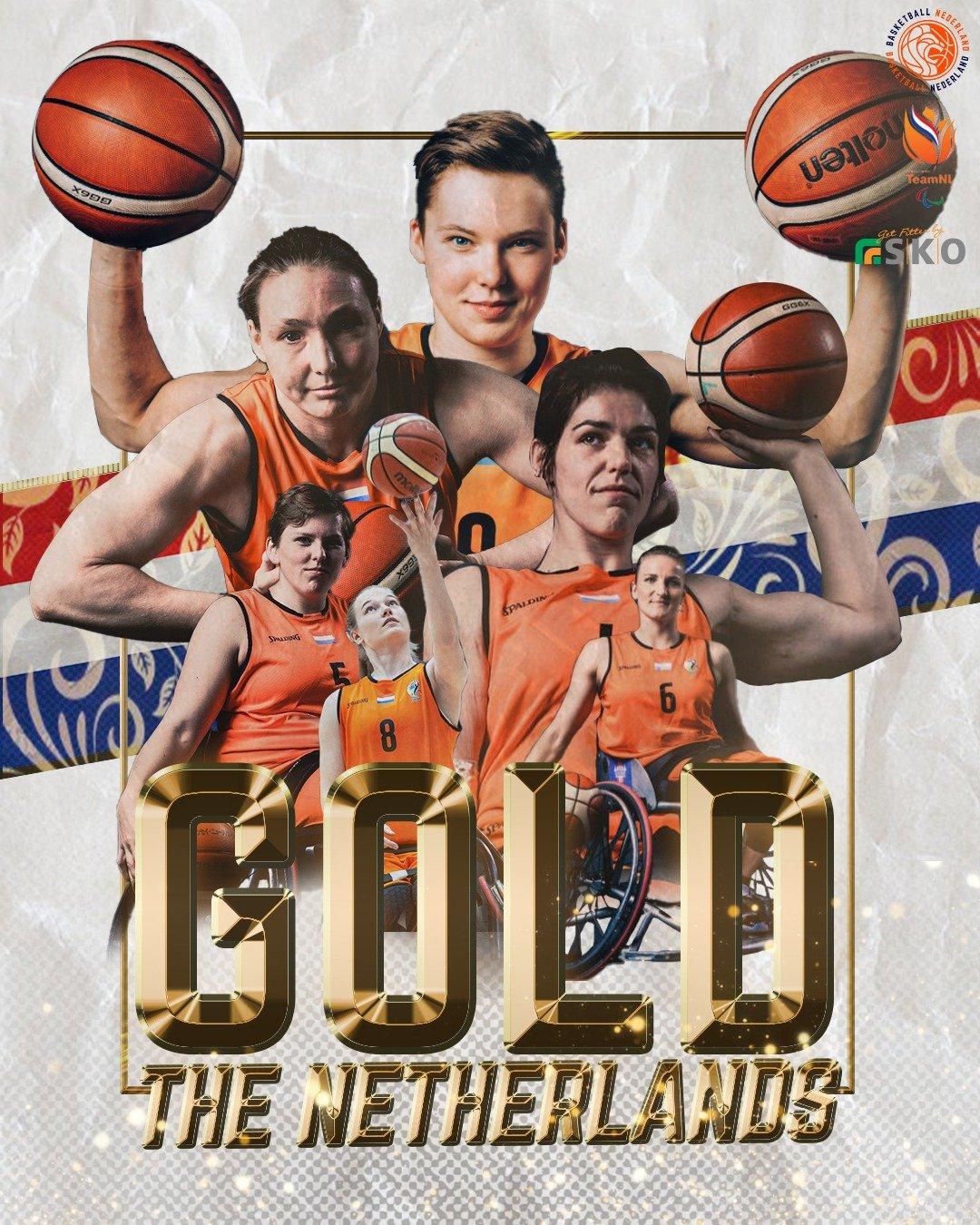 Paralympisch GOUD voor TeamNL rolstoel basketbalsters