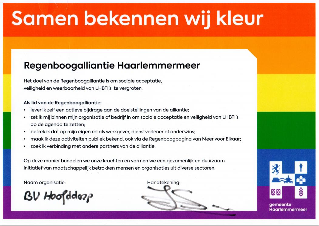 Regenboog vereniging