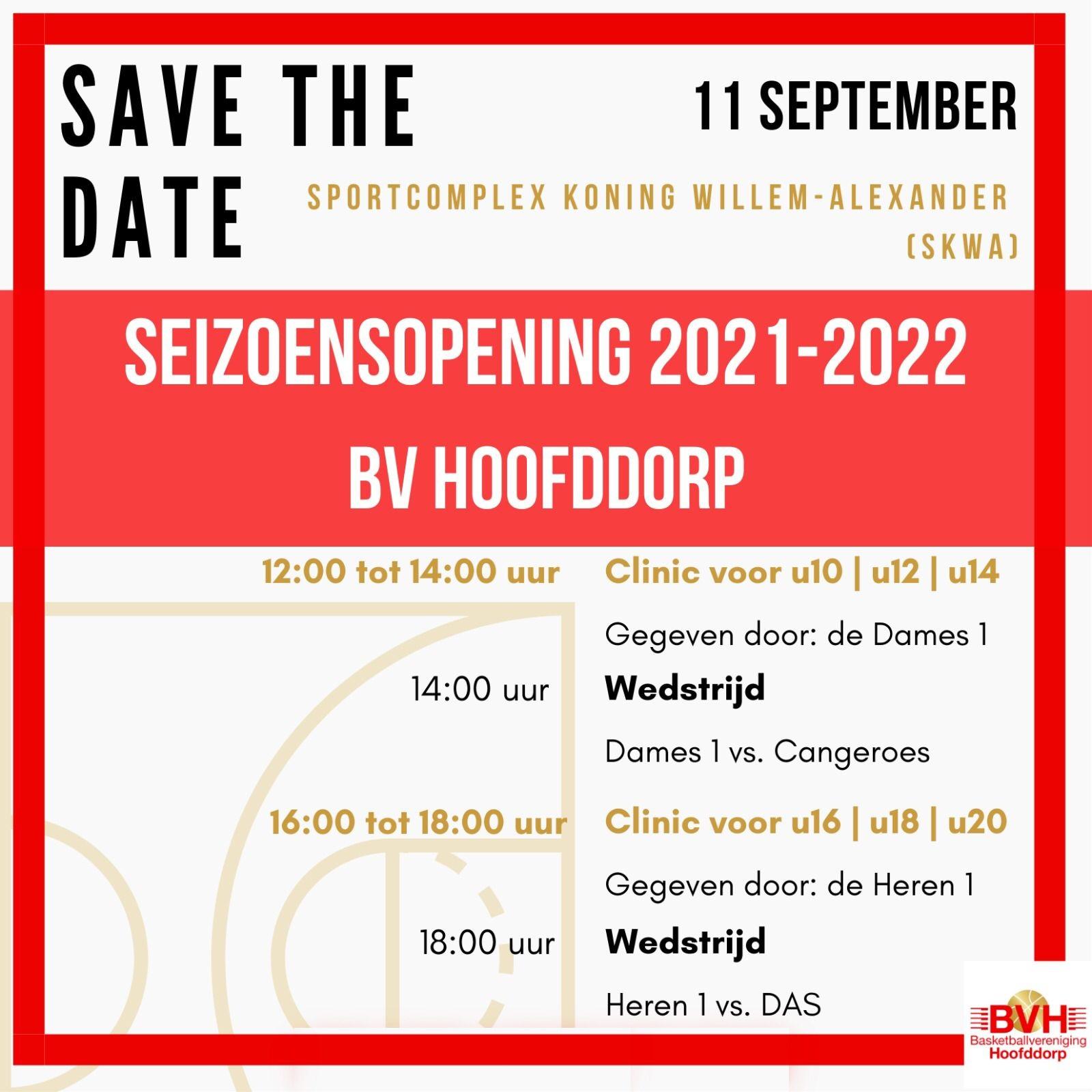 Seizoensopening 2021-2022 - Zaterdag 11 september